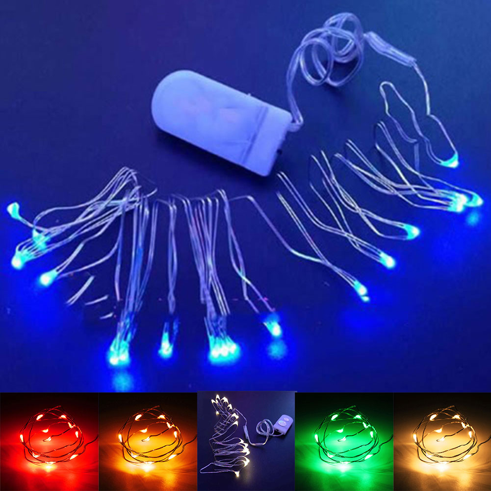 1M 10LED Copper Wire String Strip Fairy Lights For Holiday Christmas Waterproof eBay