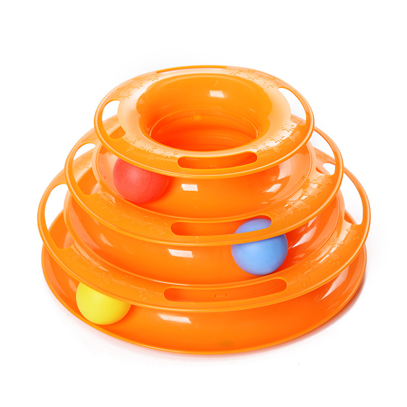 Three-Levels-Tower-Disc-Cat-Pet-Toy-Intelligence-Amusement-Rides-Shelf