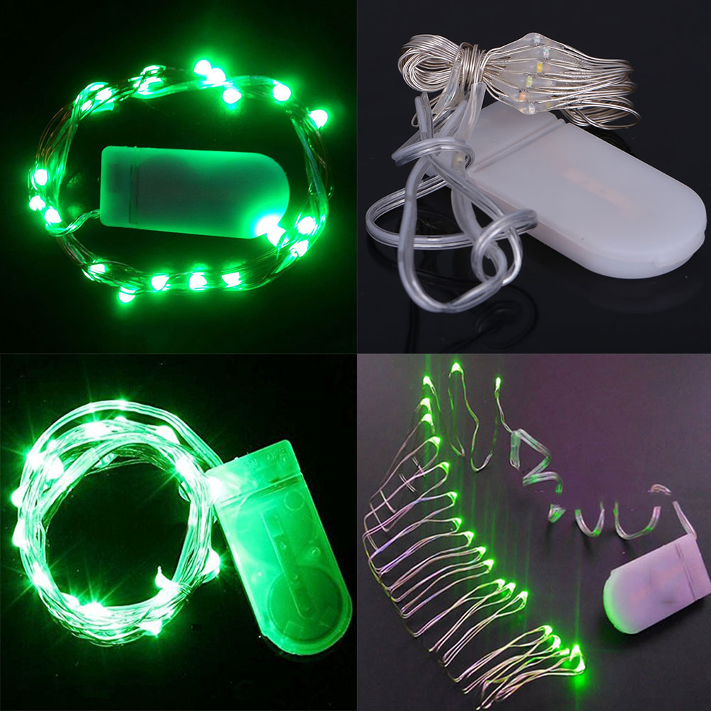 Wire String Lights Battery Operated : 2M 20LED Wire String Strip Lights W/Battery-operated for Party Wwedding Xmas eBay