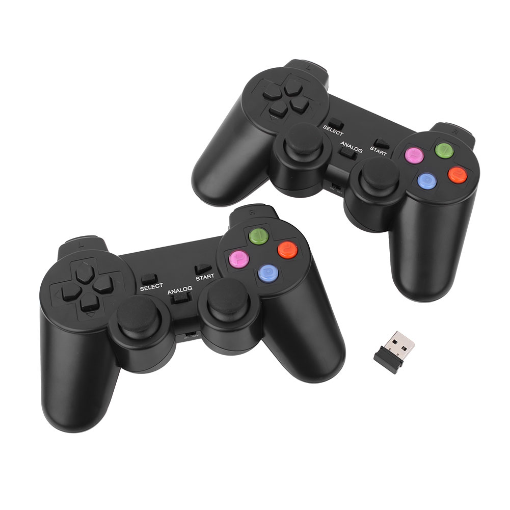 2X 2.4G USB Wireless Dual Vibration Gamepad Controller