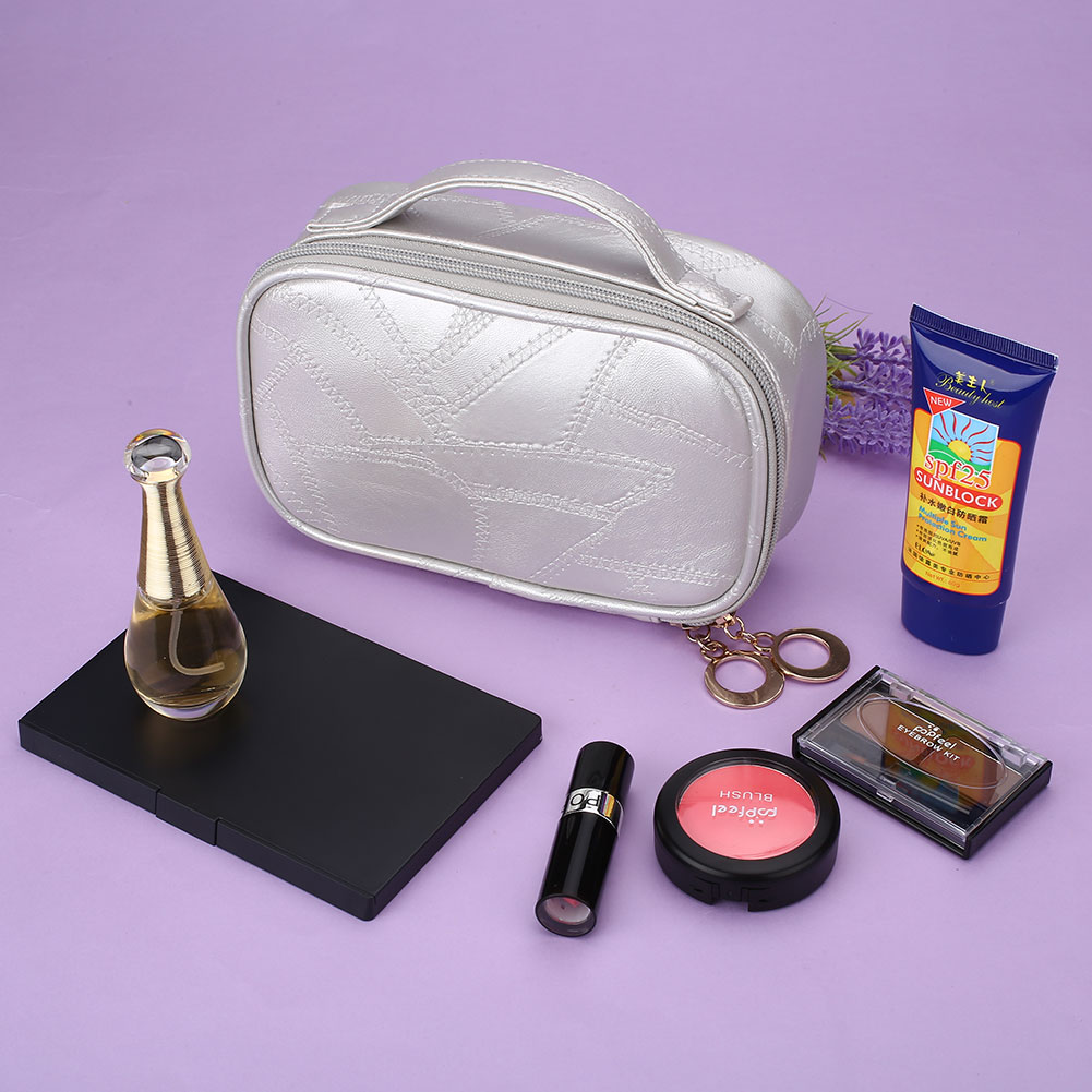 Portable Travel Cosmetic Pu Bag Storage Makeup Case