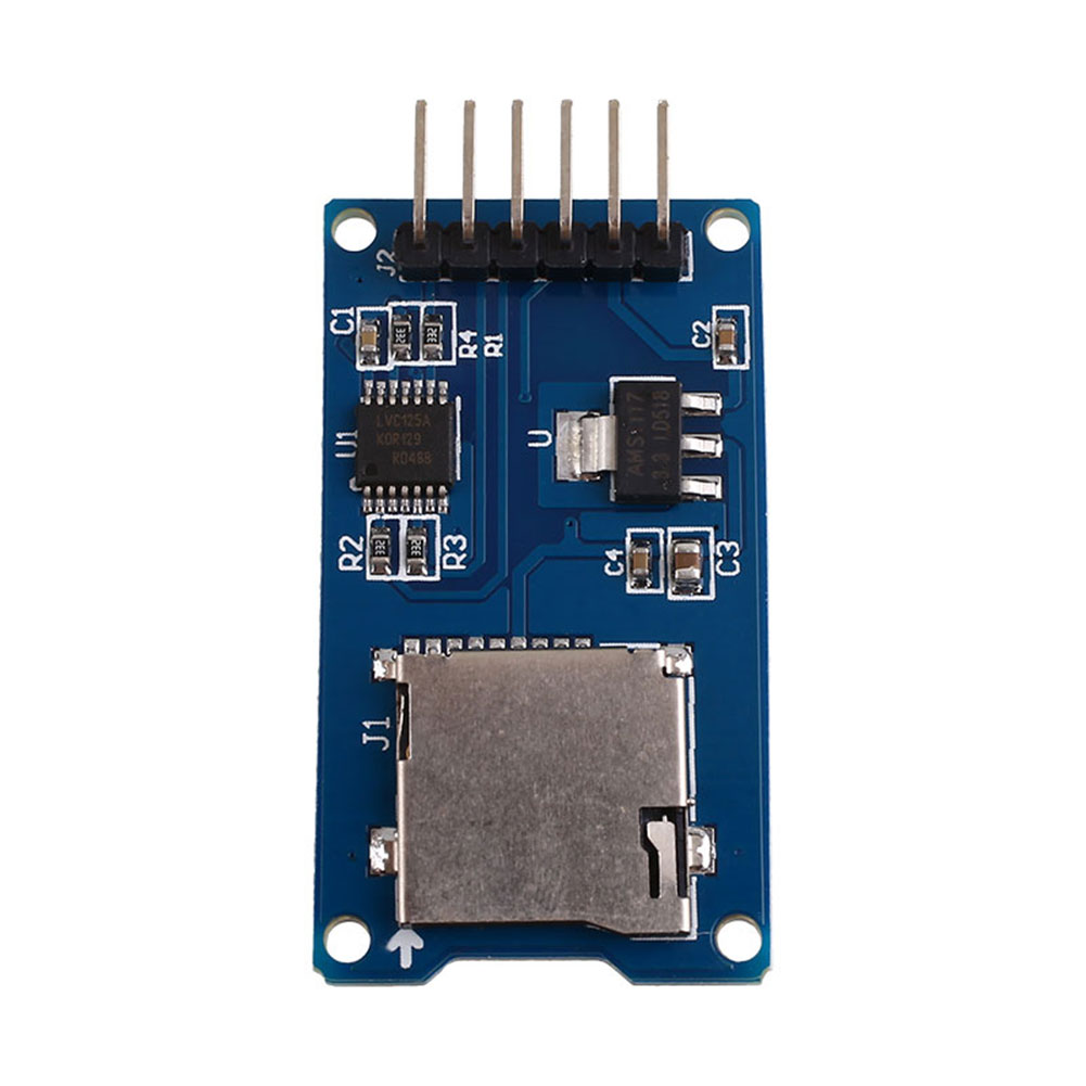 micro sd tf card reader module spi interface w/ level converter