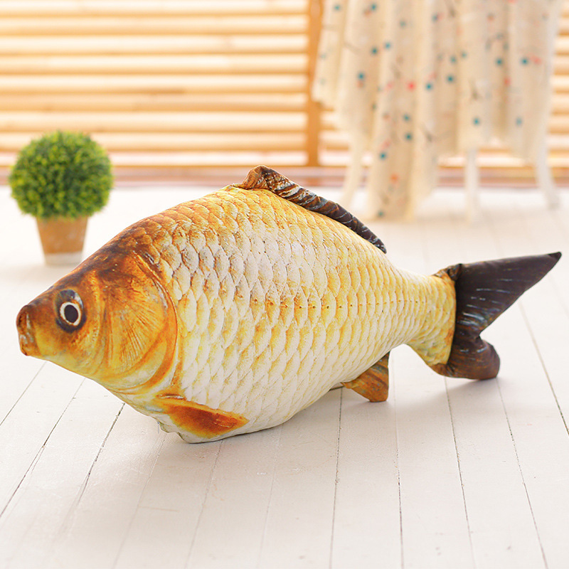 Simulation Carp Fish Plush Pillow Creative Sofa Gift Kids Toy Christmas