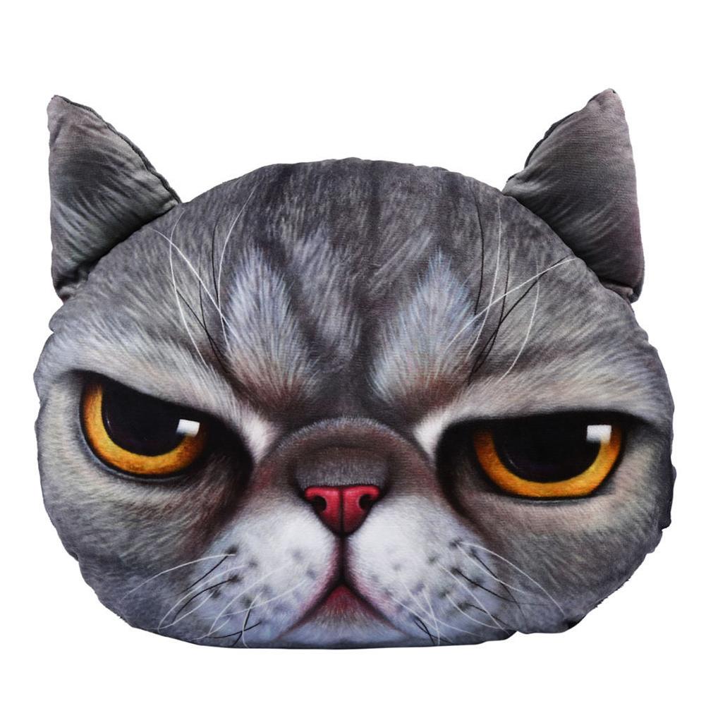 Cute Big Cat Plush Toy Pillow : 3D Cute Soft Plush Big Cat Face Throw Pillow Case Home Decor Cushion Cover Toy eBay