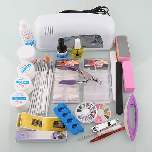 Nail Art Kit Set Choose:12/24/36 Acrylic Nail Powder UV