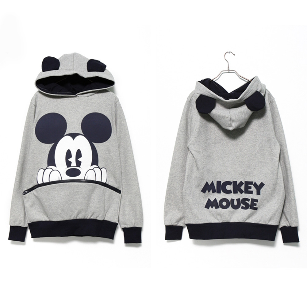 Newest Girls Mickey Mouse Ear Emo Top Jumper Hoodie Hooded Casual XL Comfortable