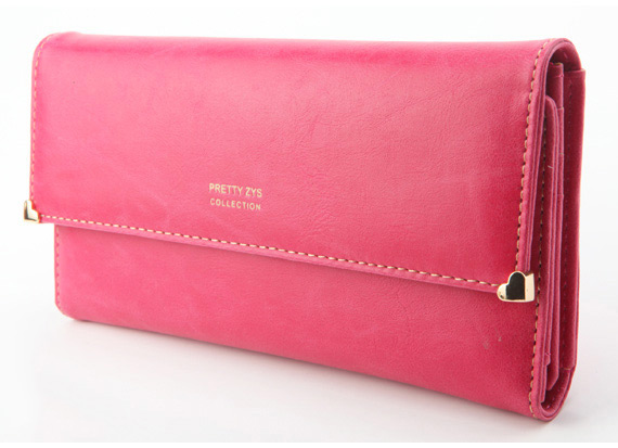 Womens New Fashion Clutch Matte Leather Wallet Lady Card Purse Handbag Candy