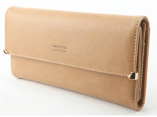 Womens New Fashion Clutch Matte Leather Wallet Card Purse Handbag Candy