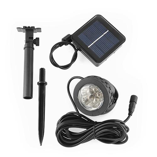 solar 6 leds solarstrahler solarleuchte solarlampe. Black Bedroom Furniture Sets. Home Design Ideas