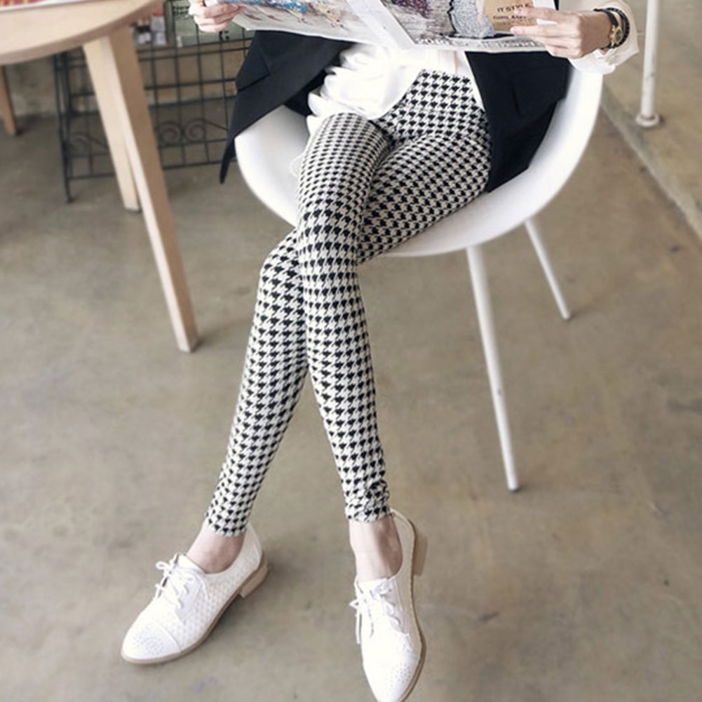 Hot-Chic-New-Sexy-Casual-Lady-Women-Style-Leggings-Stretchy-Pencil-Black-White
