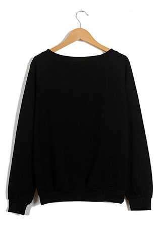 Cute Women Harajuku Sweater Raglan Long Sleeve Shirt Sweatshirt Blouse