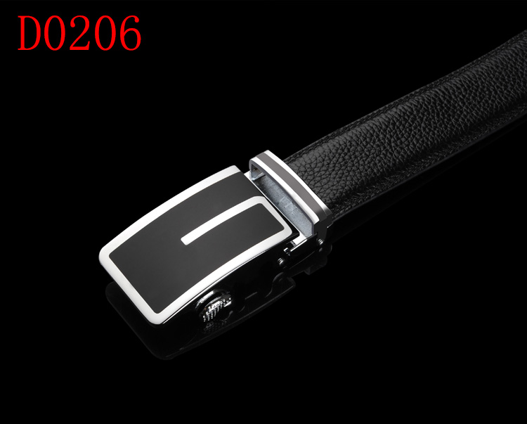 New Fashion Mens Black Automatic Buckle Genuine Leather Waist Belts 110cm-120cm