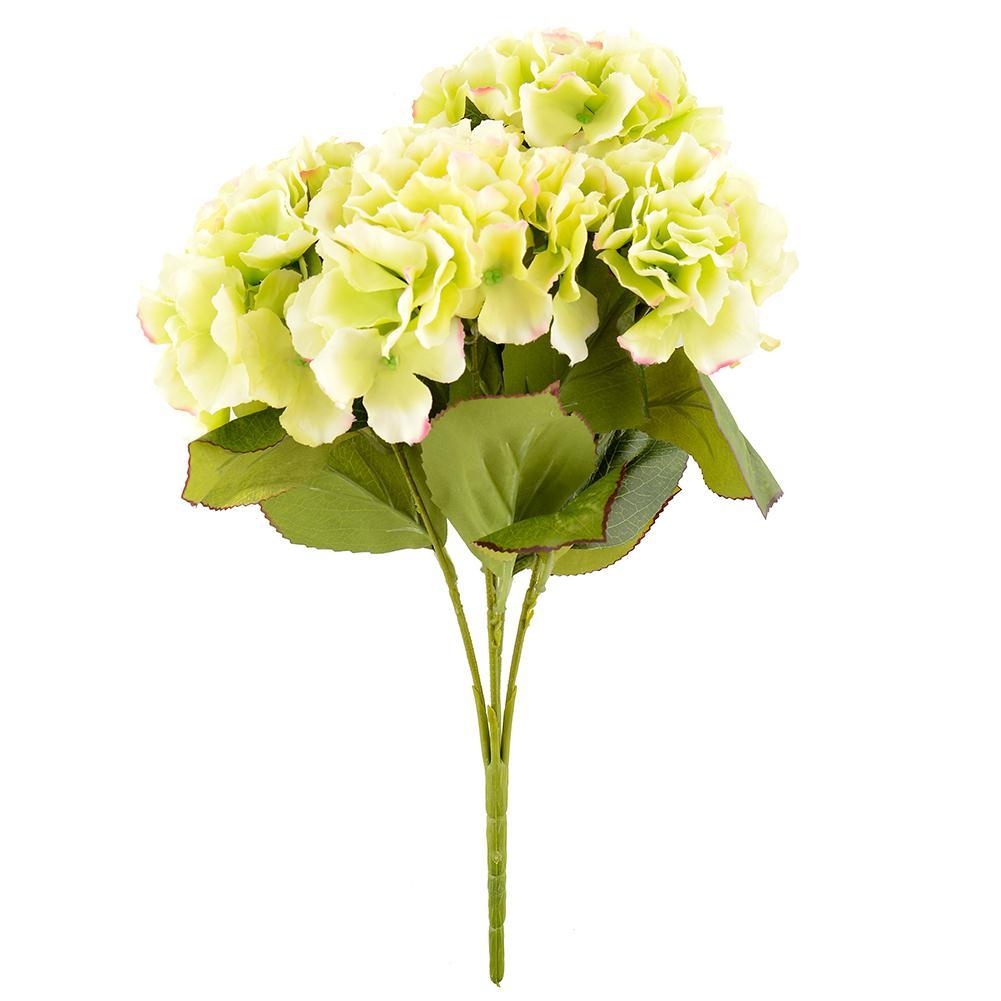 5 Flower Heads Artificial Flower Bouquet Home Wedding Floral Decor Hydrangea