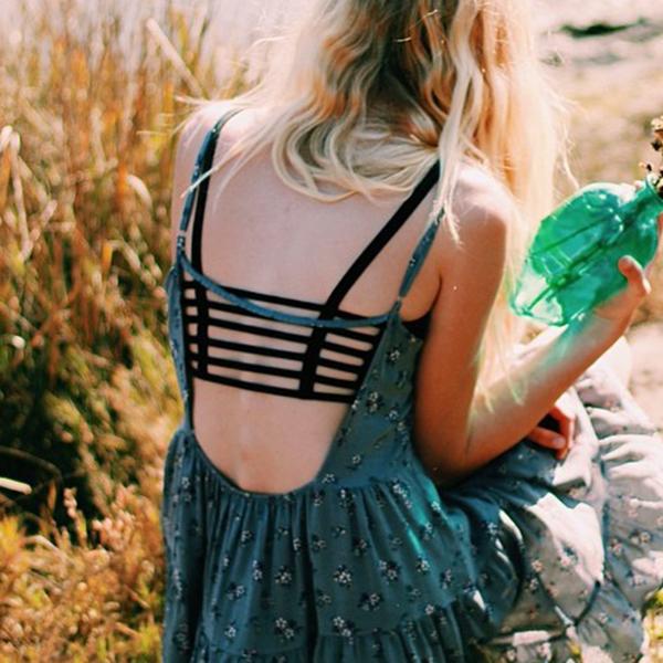 New Fashion Sexy Bra Crop Tops Women Sport Vest Cut Out Bralette Tank