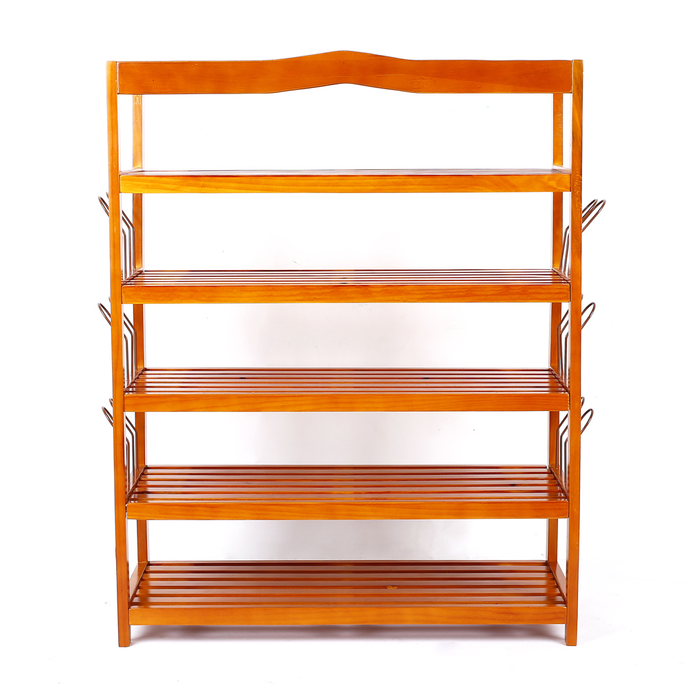 Zapatero de madera organizador zapatos armario 5 estantes for Mueble zapatero ebay