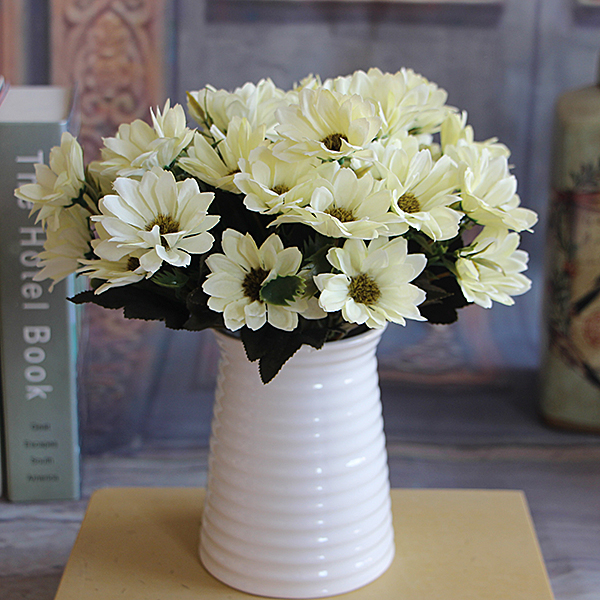 BC6C-French-Rose-Artificial-Silk-Peony-Flower-Arrange-Table-Daisy-Decor-White