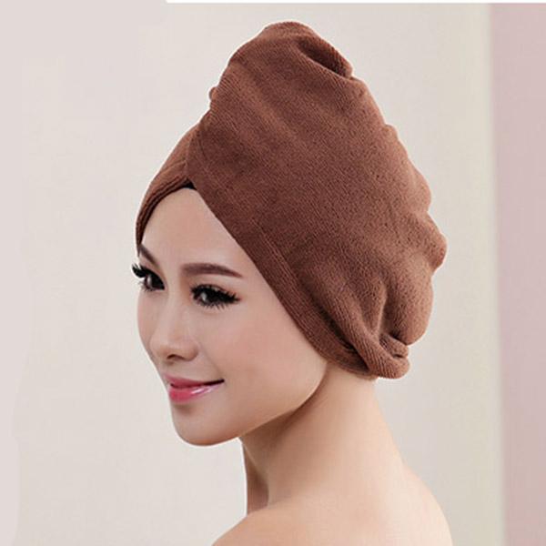 C270-New-Hair-Drying-Wrap-Towel-Turban-Bath-Cap-Washcloths-Bath-Microfiber