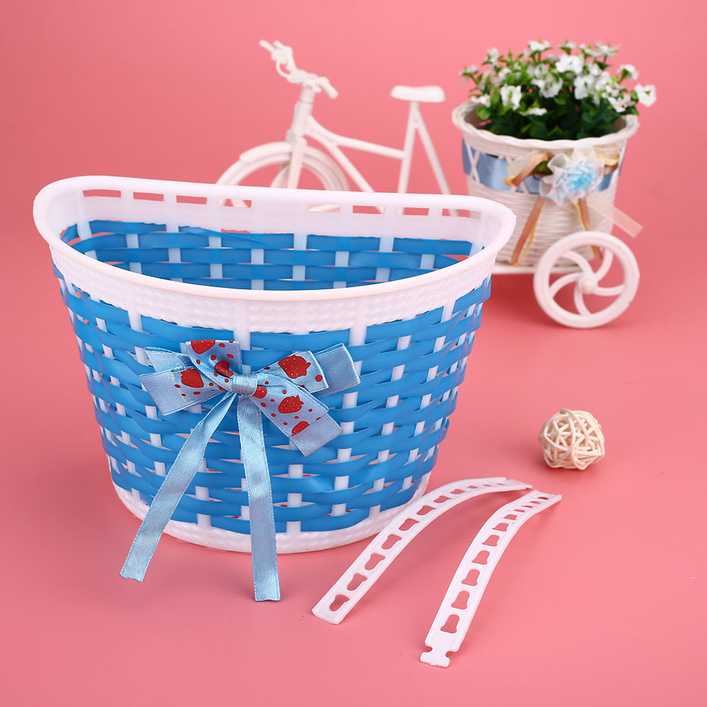 6B96-Outdoor-Bicycle-Bags-Panniers-Bike-Bowknot-Front-Basket-For-Children-Girl