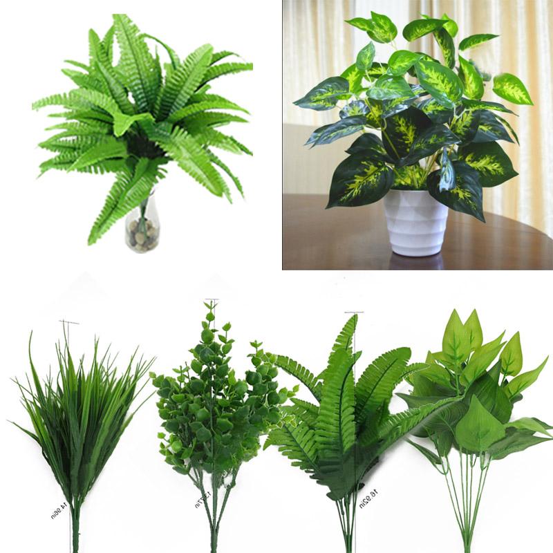 0BA2-Artificial-Plants-Outdoor-Fake-Leaf-Foliage-Bush-Home-Office-Garden-Decor
