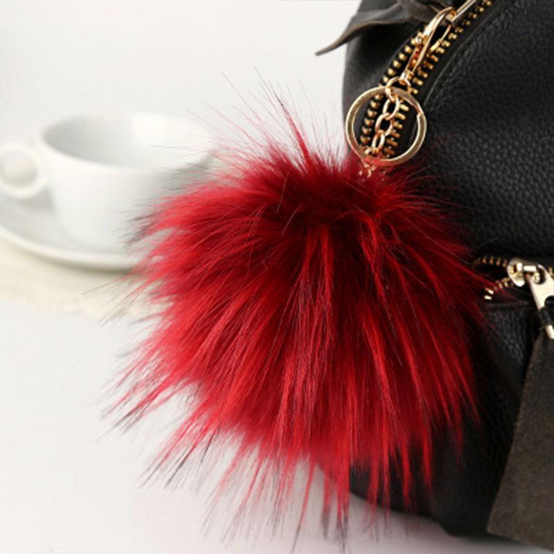 D293-New-Fluffy-Large-13cm-Faux-Fur-PomPom-Ball-Car-Handbag-Keychain-Key-Ring