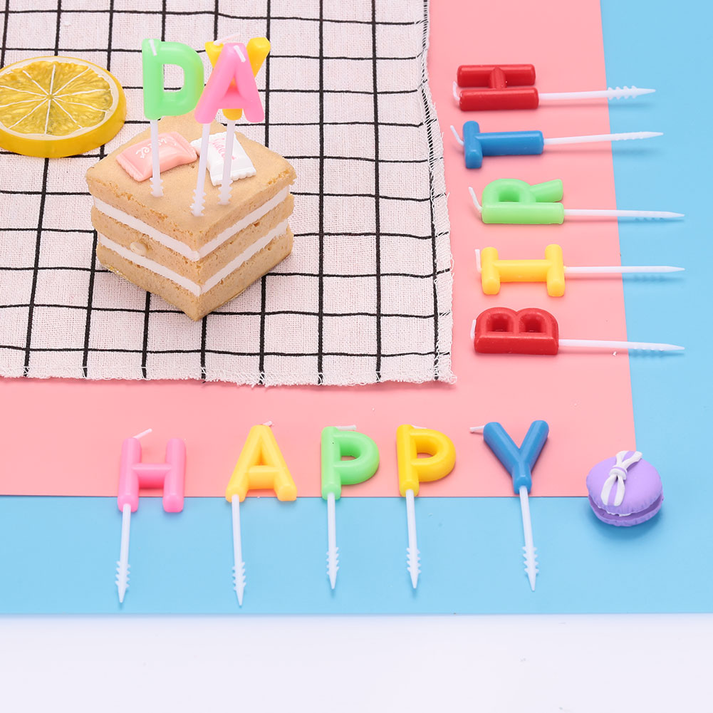 3b57 happy birthday letter candle cake topper decor
