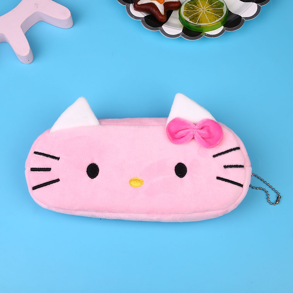 BA8A-Cute-Cartoon-Plush-Pencil-Case-Cosmetic-Bag-Container-School-Stationery