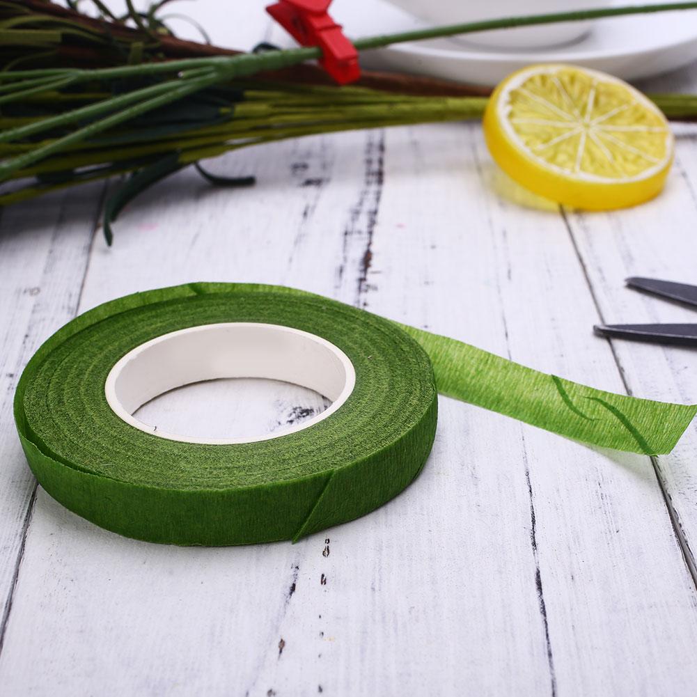 3EE5-Wrapped-Florist-Floral-Stem-Tape-Green-Plants-Flower-Wire-Wrap-Decor-8M