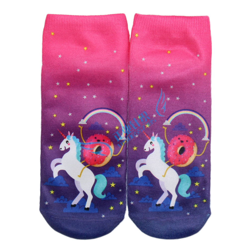 EF90-Sock-Alien-Girls-Unicorn-Letter-Printed-Pink-Fit-Hosiery-Women-Comfort