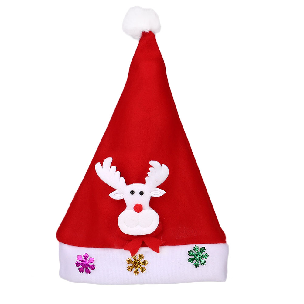 8741 Christmas Light Hat Santa Claus Xmas Cap Party Decoration Kids