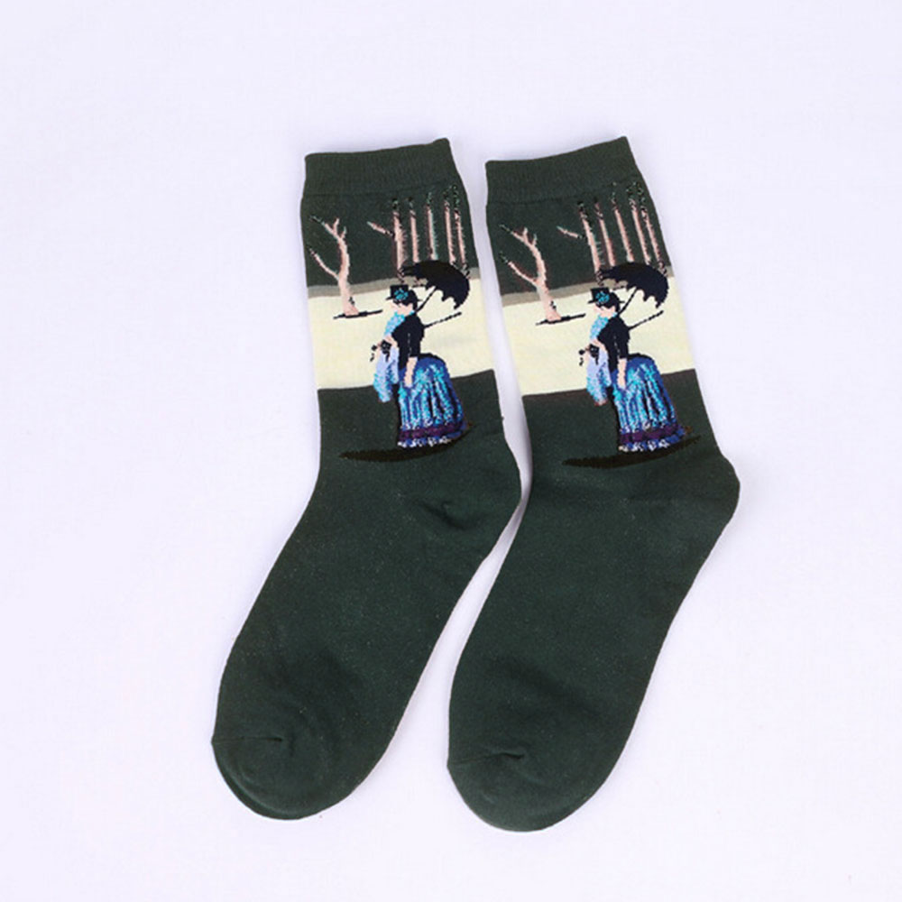 9D44-Fashion-Retro-Vintage-Unisex-Women-Men-Art-Painting-Funny-Novelty-Socks