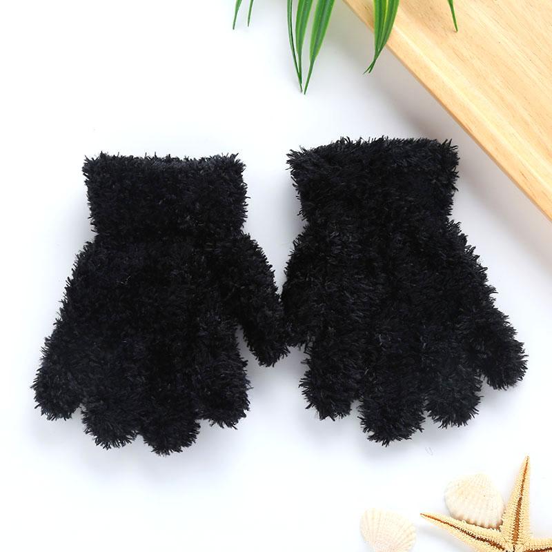 C7F8-Lovely-Kids-Children-Boy-Girl-Plain-Winter-Warm-Plush-Gloves-Kindergarten