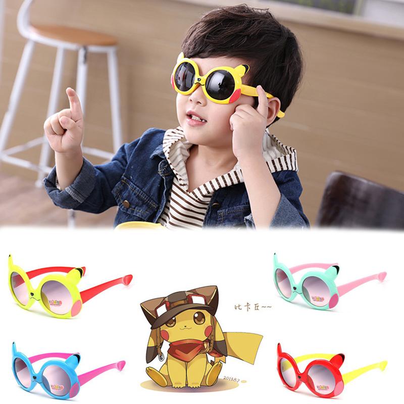 021ae9508d 1 sur 3Livraison gratuite Pokemon Pikachu Cartoon Sunglasses Kids Sun  Glasses Boys Girls Baby Summer CAF5