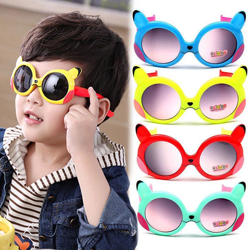 b2608b141c Pokemon Pikachu Cartoon Sunglasses Kids Sun Glasses Boys Girls Baby Summer  CAF5