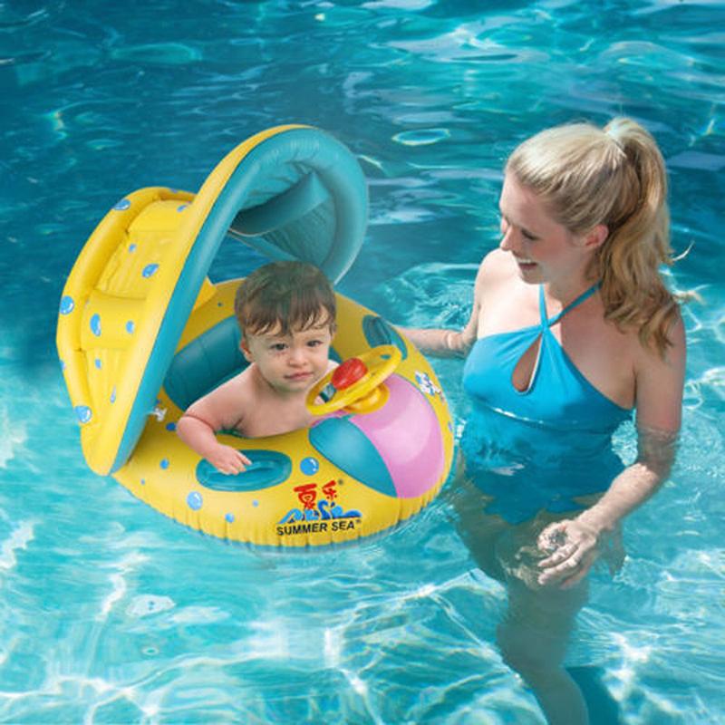 78cb Inflatable Toddler Children Baby Swim Ring Shade Swimming Pool ...