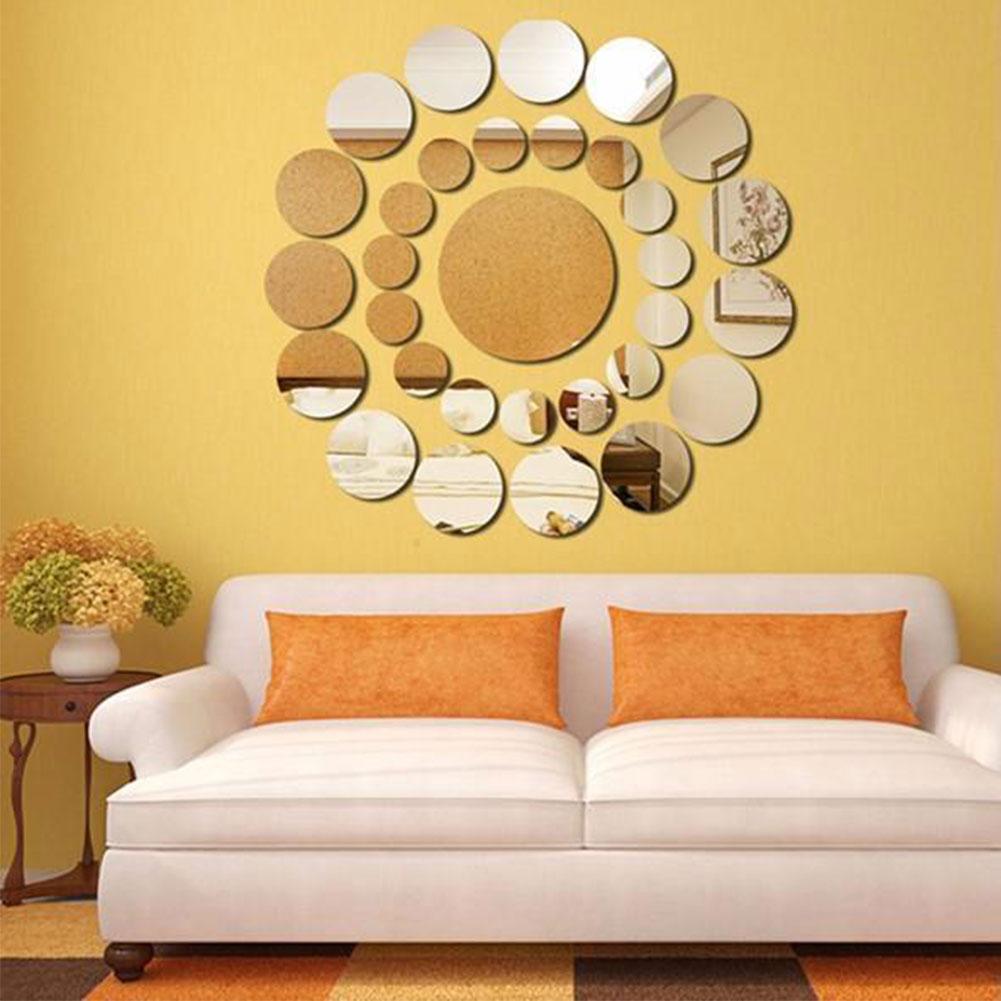 Bb58 31pcs DIY Sticker Large Circle Home Livingroom Toilet Mirror ...